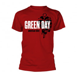 GREEN DAY - AMERICAN IDIOT HEART GRENADE (RED)