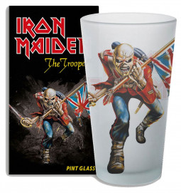 Iron Maiden Pint Glass The Trooper